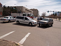 A car accident in Colorado Springs, Colorado.