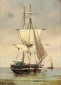 Carl Bille - To sejlskibe på havet.png