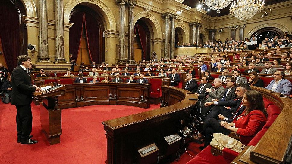 Carles Puigdemont el 10 d'octubre de 2017