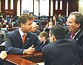 Carlos Lopez-Cantera conferring with colleagues during the 2005 Legislature.jpg