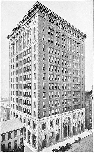 Carnegie Building (Pittsburgh) - View of the Carnegie Building in 1905 by photographer John C. Bragdon