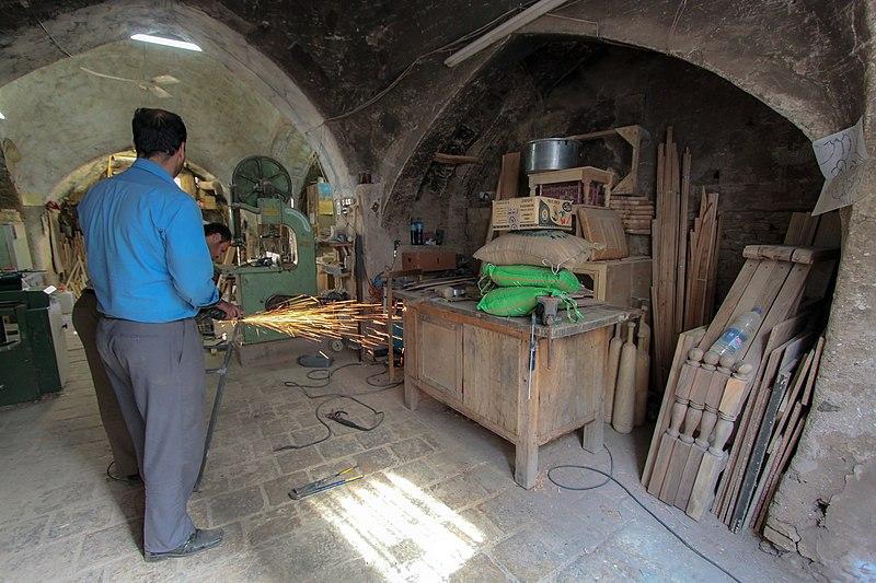 File:Carpentry workshop. Iran. Qom city کارگاه نجاری برادران حاج محمدی. ایران، قم 11.jpg