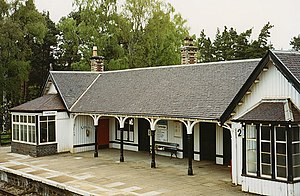 Carrbridge railway station - Image: Carrbridge railway station geograph.org.uk 891962