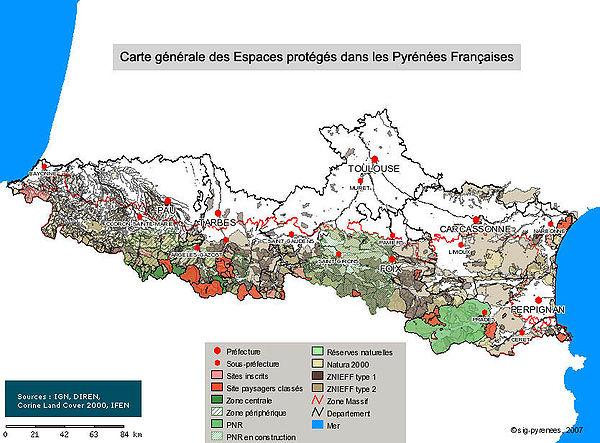 Espaces prot g s des pyr n es wikip dia - Office du tourisme pyrenees atlantiques ...