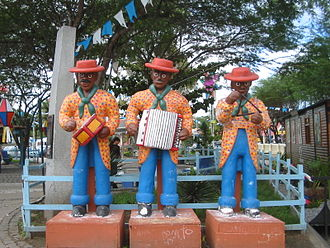 Forró - Statues of Forró musicians