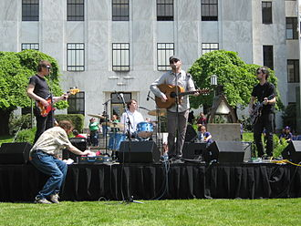 Casey Neill - Casey Neill and the Norway Rats playing at a union rally in Salem, Oregon