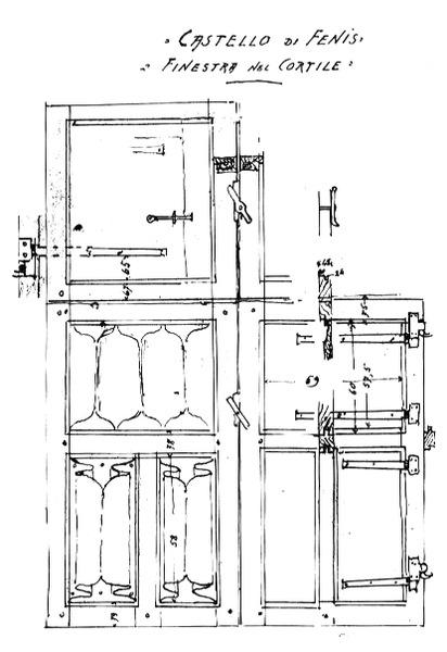 File:Castello di Fenis, finestra nel cortile, fig 149, disegno Nigra.tiff