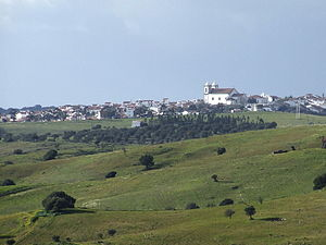 Castro Verde - Castro Verde as seen from the Monument to the Battle of Ourique in São Pedro de Cabeças