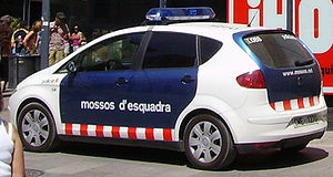 A patrol car in Barcelona