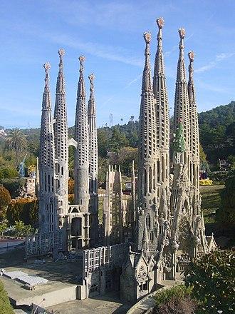 Catalunya en Miniatura - Image: Catalunya en Miniatura Sagrada familia 2