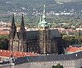 Cathédrale Saint-Guy, Saint Venceslas et Saint-Adalbert de Prague depuis la Tour de Petřín-01.jpg