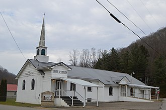 Cazy, West Virginia - Baptist church