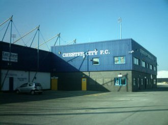 Chester City F.C. - Chester City moved to the Deva Stadium in 1992.