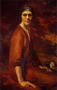 Cecilia Beaux - Self-portrait in Uffizi Gallery.jpg
