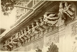 Apsara - Apsaras on Hindu Temple at Banares, 1913