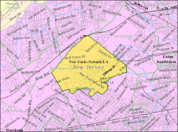 Census Bureau map of Mountainside, New Jersey