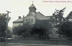 National Register of Historic Places listings in Itasca County, Minnesota - Image: Central School Grand Rapids MN