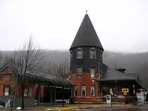 Central Railroad of New Jersey Station Jim Thorpe PA Dec 09.jpg