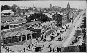 Central railway station, Brisbane - Image: Central railway station brisbane 1910