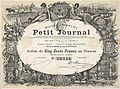 Certificate of Le Petit Journal Action de 500 Francs,.jpg