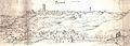 Cervera, la Segarra, 1563. Vista d'Antoni van den Wijngaerde.jpg