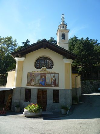 Châtillon, Aosta Valley - the church of Notre-Dame-de-Grâces.