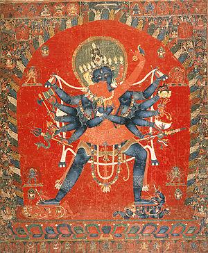 Cakrasaṃvara Tantra - Saṃvara with Vajravārāhī in Yab-Yum