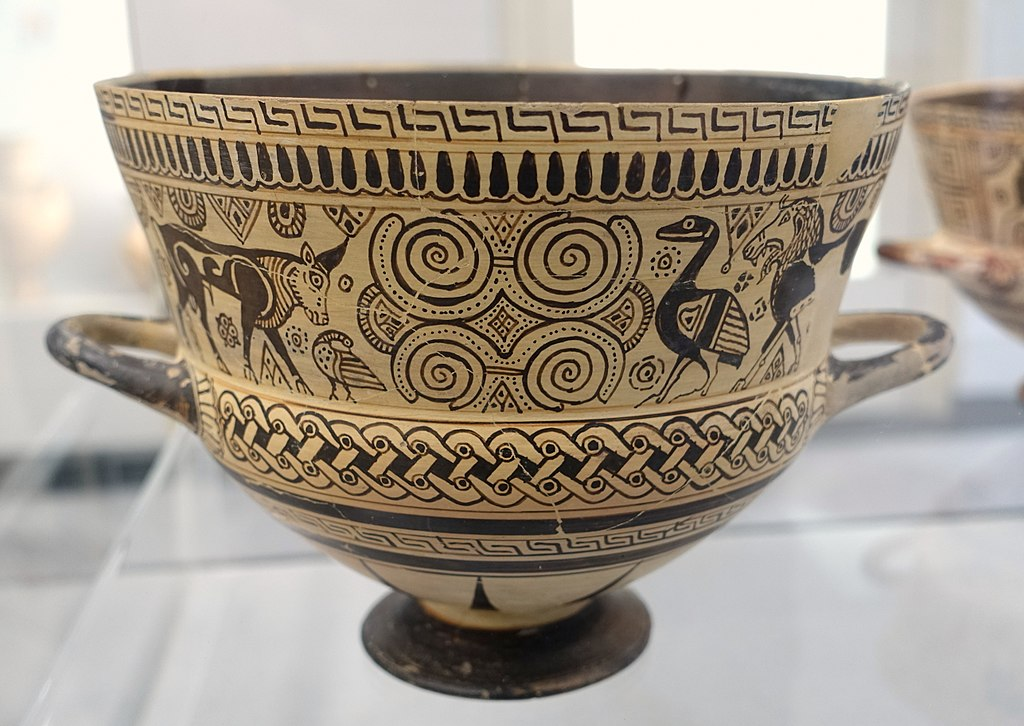 Filechalice 1 Of 2 Chios Style Of East Greek Vase Painting C