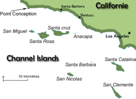 Carte des Channel Islands.