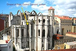 Filipa Moniz Perestrelo - Capela da Piedade (Chapel of Piety) at Carmo, Lisbon where Filipa was buried.