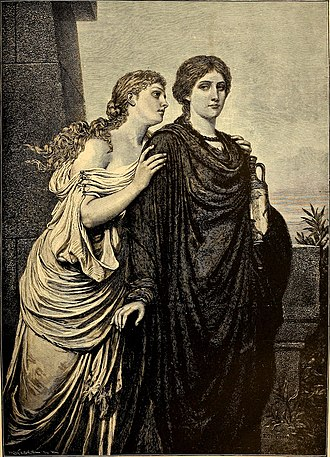 Ismene - Antigone and Ismene by Emil Teschendorff (1892)
