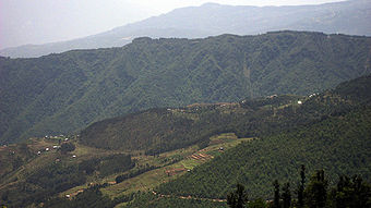 Landscape near Charikot; from North of the town