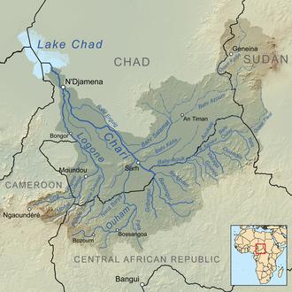 Sara people - Image: Charirivermap