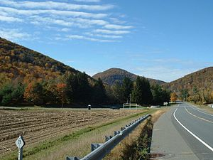 Charlemont, Massachusetts - The Mohawk Trail, with Todd Mountain in the background