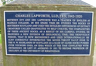 Madras College - Lapworth plaque at Madras