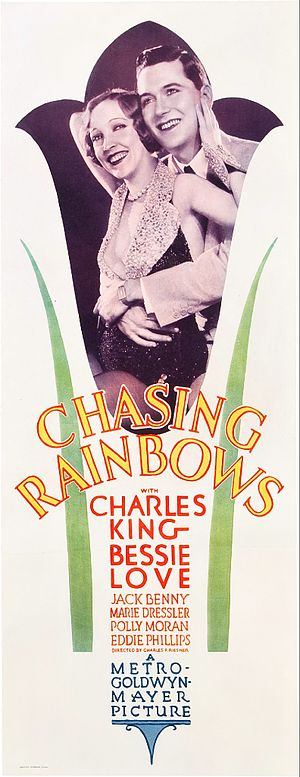 Chasing Rainbows (1930 film) - Theatrical release poster