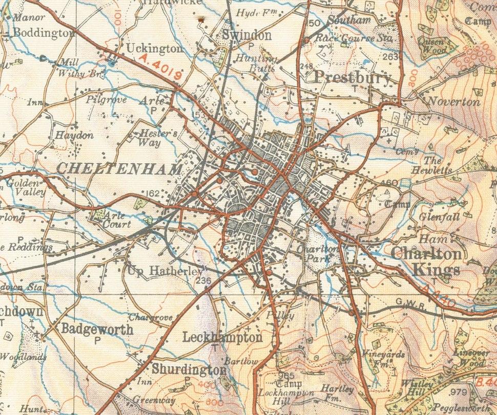 Cheltenhammap 1933