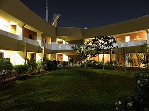 Chennai Mathematical Institute - Image: Chennai Mathematical Institute main building greenery at night 3