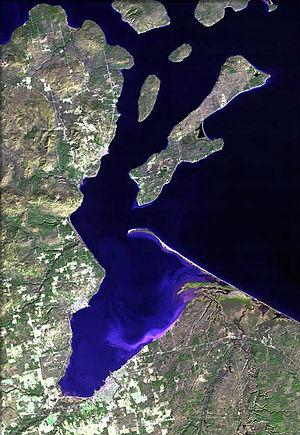 Chequamegon Bay - Image: Chequamegon Bay map