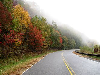 Monroe County, Tennessee - Cherohala Skyway in Autumn
