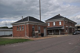 National Register of Historic Places listings in Cherokee County, Iowa - Image: Cherokee IA Illinois Central RR Yard