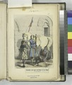 Chevalier servi par son Écuyer et ses Pages - fin du 13 siècle (NYPL b14896507-1235288).tiff