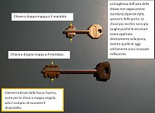 Foto di due chiavi a doppia mappa.