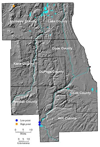 Geography of Chicago - Geography of Chicago and surrounding counties.