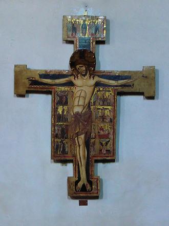 San Martino (Pisa) - Crucifix by  Enrico di Tedice.