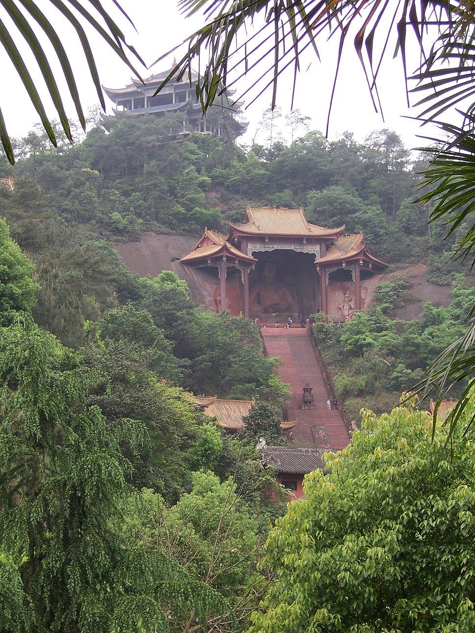 China - Leshan - Buddhist temples
