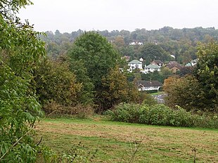 The upper Chipstead Valley, Chipstead from Banstead Wood.