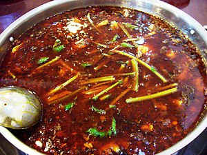 Hot pot - Spicy hot pot broth in Chongqing style