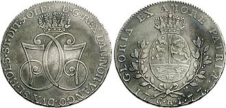 Monogram - Speciedaler of Denmark, bearing the double C7 monogram of Christian VII