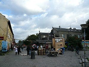 One of the main streets in Christiania, Copenhagen
